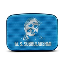 Picture of Saregama Carvaan Mini MS Subbulakshmi SCM01 Bluetooth Speakers (Aqua Blue)