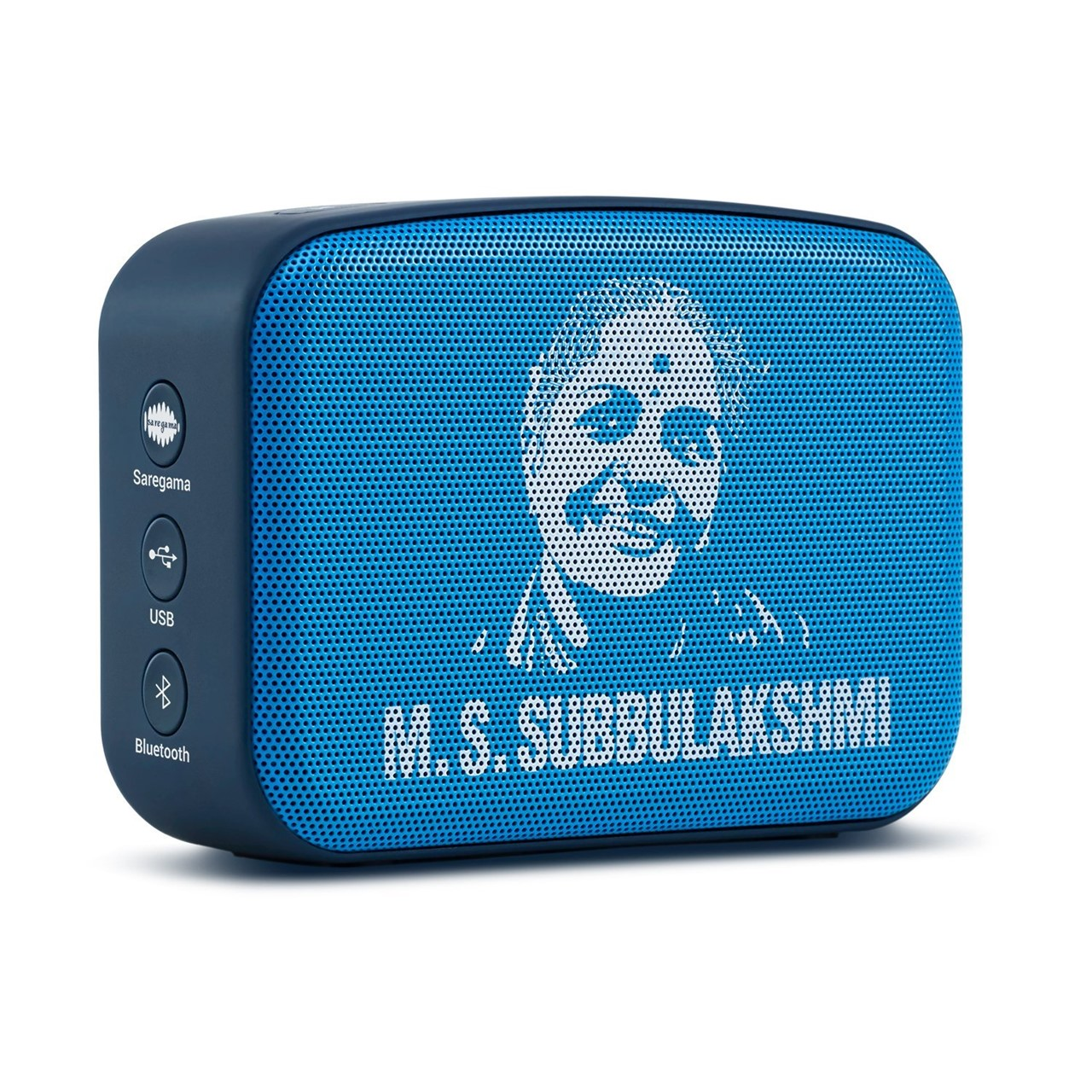 Saregama Carvaan Mini MS Subbulakshmi SCM01 Bluetooth Speakers (Aqua Blue)