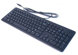 Picture of Dell Black Slim Wired USB Multimedia Keyboard Genuine Original Oem XD31W KB213P