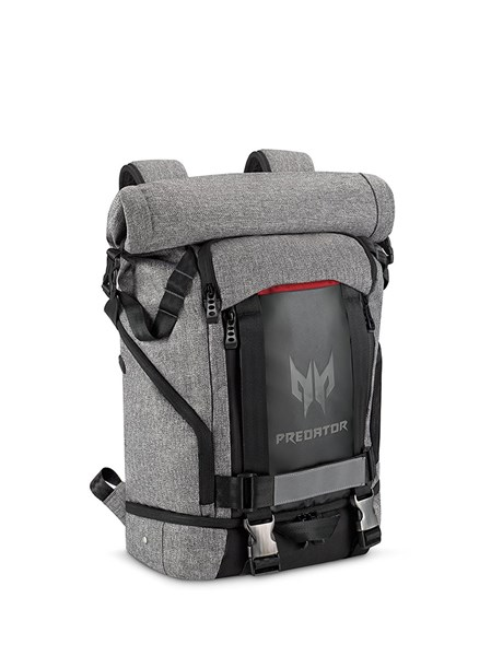 "Picture of Acer Predator Gaming Rolltop Backpack 15.6"" for all Gaming Laptops – Expandable space up to 35.5L capacity, Travel backpack, organized pockets for all gears"