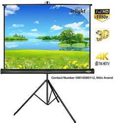 Picture of Inlight Cineview Series Tripod Type Projector Screen Supports 3D And Full HDTV Format