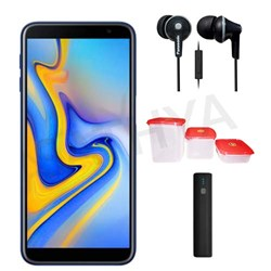Picture of Samsung Mobile J610FG (GALAXY J6 PLUS) + Power Bank (or) Earphone + 3Pcs Plastic Modular Container Set