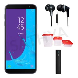 Picture of Samsung Mobile J600G (GALAXY J6 18) 32GB + Power Bank (or) Earphone + 3Pcs Plastic Modular Container Set
