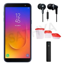 Picture of Samsung Mobile J600GH (GALAXY J6 18) 64GB + Power Bank (or) Earphone + 3Pcs Plastic Modular Container Set
