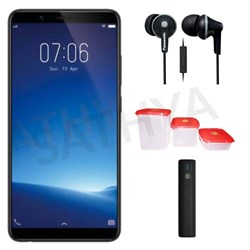 Picture of Vivo Mobile Y71 I + Power Bank (or) Earphone + 3Pcs Plastic Modular Container Set