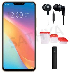 Picture of Vivo Mobile Y81 I + Power Bank (or) Earphone + 3Pcs Plastic Modular Container Set