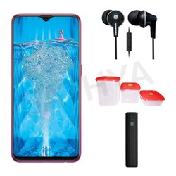 Picture of Oppo Mobile F9 PRO 64GB Sunrise Red + Power Bank (or) Earphone + 3Pcs Plastic Modular Container Set