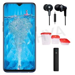 Picture of Oppo Mobile F9 PRO 64GB Twilight Blue + Power Bank (or) Earphone + 3Pcs Plastic Modular Container Set