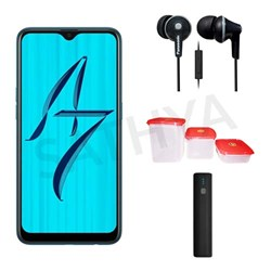 Picture of Oppo Mobile A7 + Power Bank (or) Earphone + 3Pcs Plastic Modular Container Set