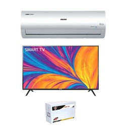 "Picture of Voltas 1.5 Ton Inverter 3 Star AC+43"" FHD Smart LED+LED Stabilzer"