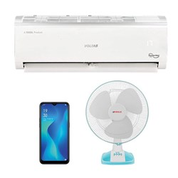 Picture of Voltas 1.5 Ton Inverter 3 Star AC+Oppo Mobile (Black)+Fan