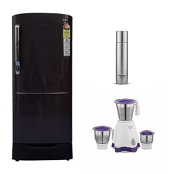 Picture of Samsung 192 L Fridge+Preethi Mixie+500 ml Flask