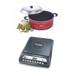 Picture of Prestige Induction Stove+Ideal Biriyani Pot