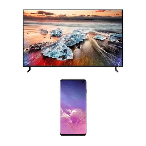Picture of Samsung LED QA75Q900RB+Gift Samsung Mobile Galaxy S10 512GB Storage
