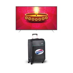 "Picture of Amstrad 65"" AM65UG5A UHD Smart LED TV+Gift American Tourister Trolley Bag"