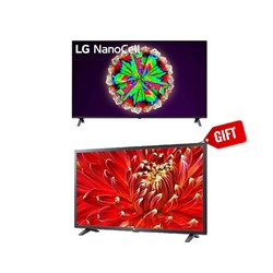 "Picture of LG 55"" 55NANO80 4K NanoCell TV+GIFT LG 32"" 32LM636B HD Smart LED TV"