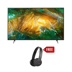 "Picture of Sony 65"" KD-65X8000H 4K UHD Smart Android LED TV+Gift Sony WH-CH510 Wireless Headphone"