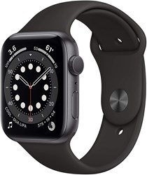 Picture of Apple Watch Series 6 GPS Plus Cellular 44mm Space Grey Alu Case With Black Sport Band Regular
