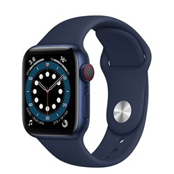 Picture of Apple Watch Series 6 GPS Plus Cellular 40mm Blue Alu Case With Deep Navy Sport Band Regular