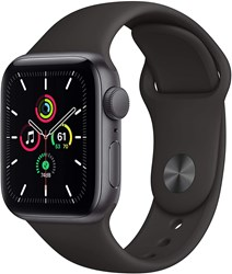 Picture of Apple Watch SE GPS 40mm Space Gray Alu Case With Black Sport Band Regular