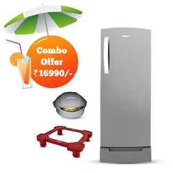 Picture of Whirlpool  200 Litres Royale 4S Inverter Cool Illusia Single Door Refrigerator+Sakthi Stabilizer +Fridge Stand