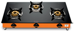 Picture of Preethi Sparkle Marigold GTS126 3Burner Gas Stove