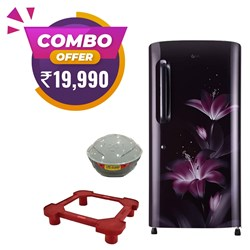 Picture of LG 215 Litres Single Door Refrigerator+LifeGuard Stabilizer +Fridge Stand