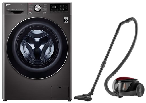 Picture of LG 10.5Kg/7Kg FHD1057STB Fully Automatic Front Load Washing Machine+Gift LG Vacuum Cleaner