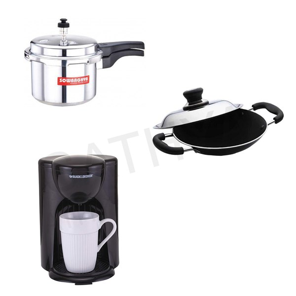 Picture of Sowbhagya Cooker 3 L/Butterfly Raaga Aapachatty/BlackDecker Coffee maker