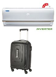 Picture of Bluestar AC 1Ton IC312RBTU Inverter 3 Star (BI/BO)+Gift American Tourister Trolly Bag