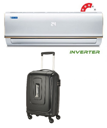 Picture of Bluestar Ac 1.5Ton IC318RBTU Inverter 3 Star (BI/BO)+Gift American Tourister Trolly Bag