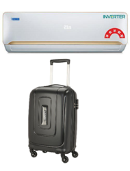 Picture of Bluestar AC 1Ton 5CNHW12QATU Inverter 5 Star (BI/BO)+Gift American Tourister Trolly Bag