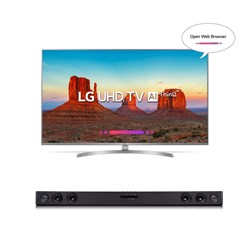 "Picture of LG 49"" 49UK7500 Smart 4K UHD/LG HT Speaker SJ3"