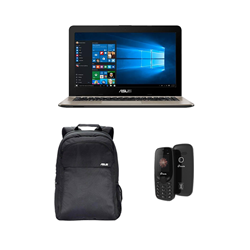 Picture of Asus Laptop X541NA - GO121T 16 PQC (4GB-1TB-W10) BK/Back pack/M-Tech Mobile