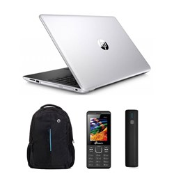 Picture of HP Laptop 15-BS662TU (I3-7GEN-4GB-1TB-W10-15.6-FHD)/Carry Case/M-Tech Mobile/Power Bank