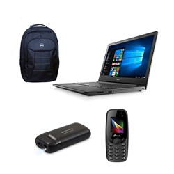 Picture of Dell Inspiron  3567 ( CI3-6006U-8GB-1TB-WIN10+MS Office-FHD )/ Carry Case/M-Tech Mobile/Power Bank