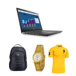 Picture of Dell Vostro V3568 (Ci3-6006U/4GB /1TB/WIN10+MSO)/Carry Case/Wrist Watch/T-Shirt